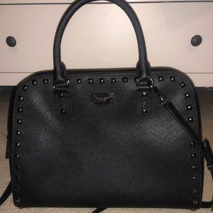 Michael Kors Sandrine Black Leather Handbag